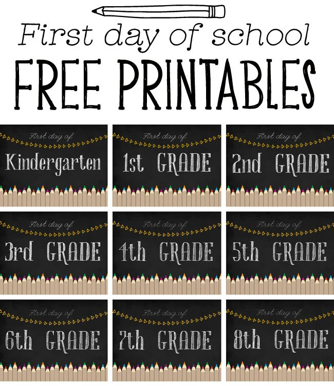 graphic regarding First Day of School Printable called To start with Working day of College Printables - The Ideal Guidelines for Young children