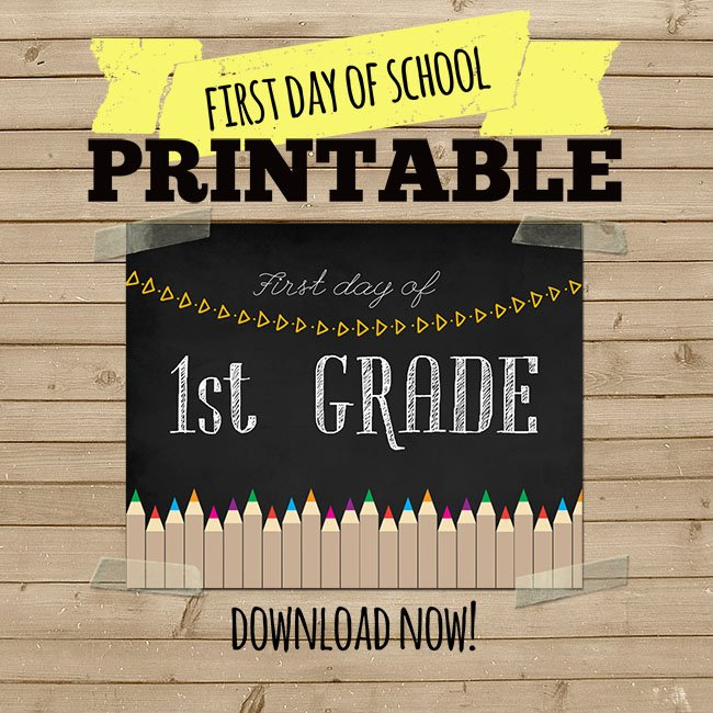 First Day Of School Printables The Best Ideas For Kids