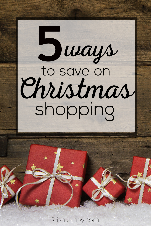 5 ways to save on Christmas shopping