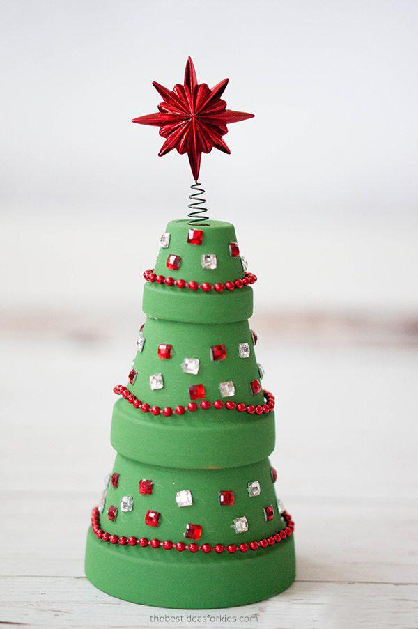 Flower Pot Christmas Tree Craft