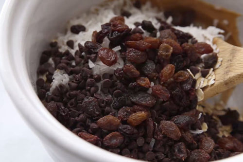 Add Chocolate and Raisins to Mix