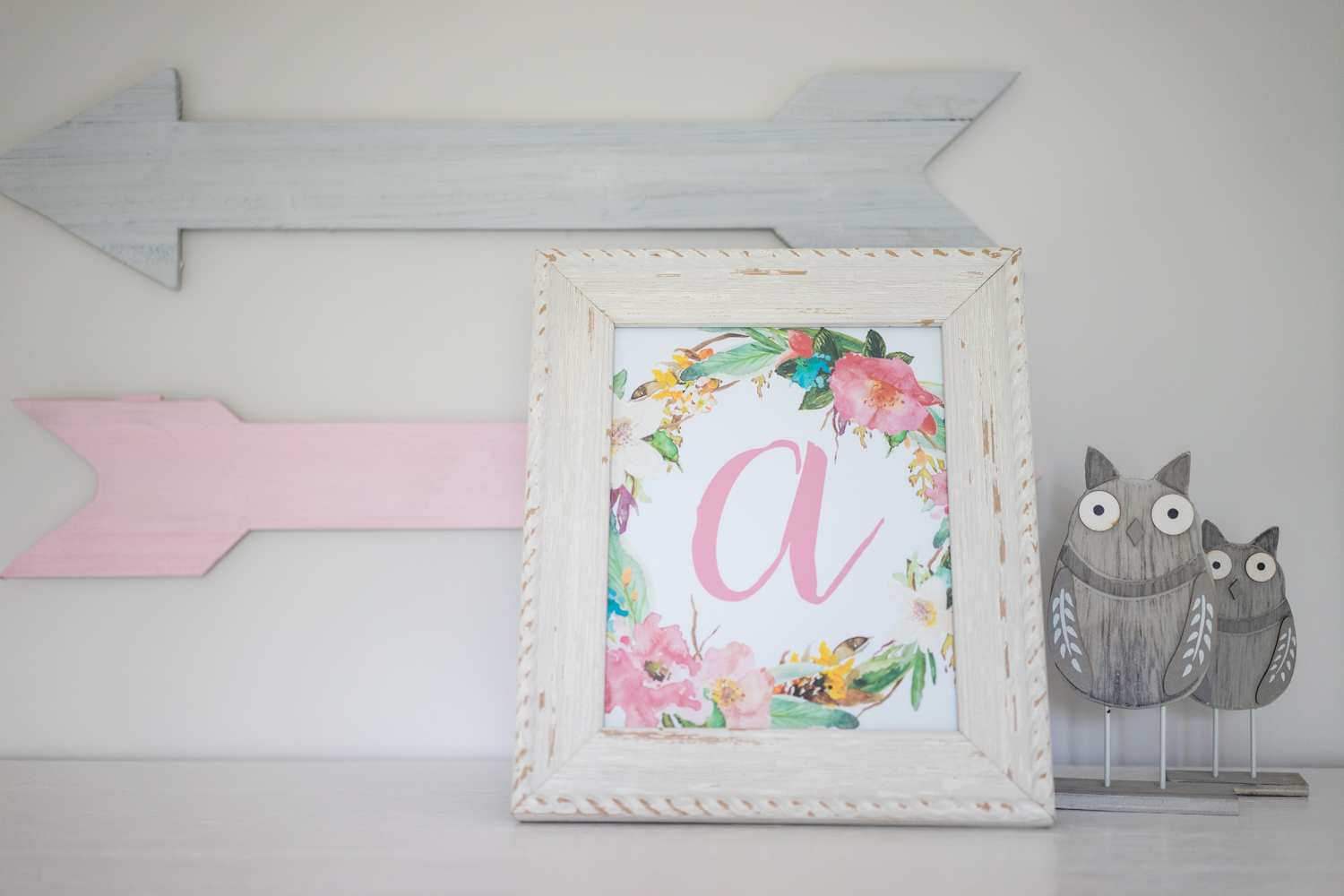 free monogram nursery printable
