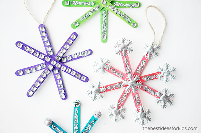 Lollipop Stick Christmas Decorations.How To Make Popsicle Stick Snowflake Ornaments An Easy