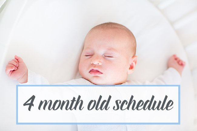 4 month old breastfeeding schedule