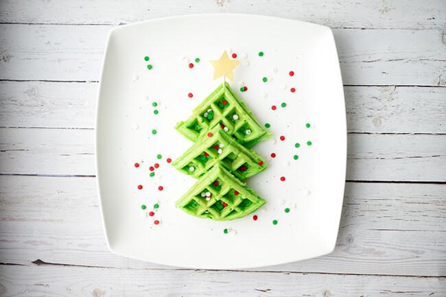Christmas Breakfast Ideas for Kids - Waffles