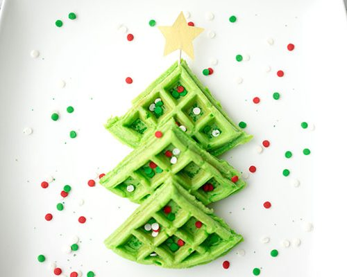 Christmas Tree Food.Christmas Breakfast Ideas For Kids Christmas Tree Waffles