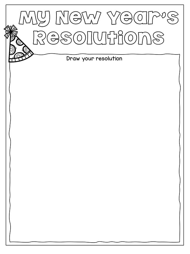 New Years Resolution Worksheet Drawing