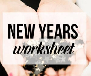 New Years Worksheet