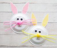 Easter Bunny Paper Plate Craft for Kids