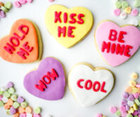 Valentine's Day Conversation Heart Cookies