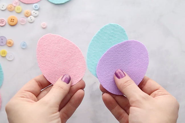 Cut out Felt Easter Eggs