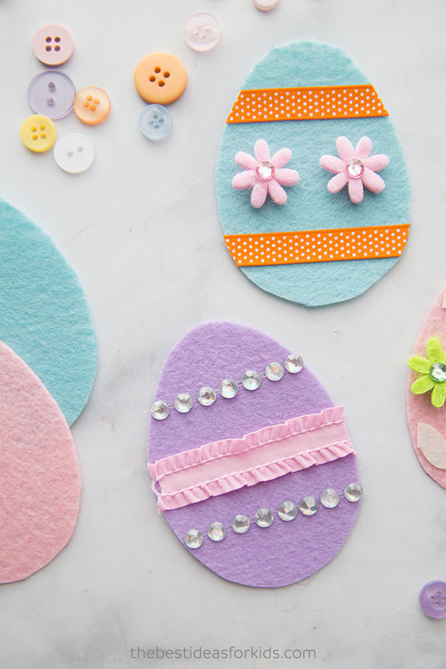 Felt Easter Eggs Craft for Kids