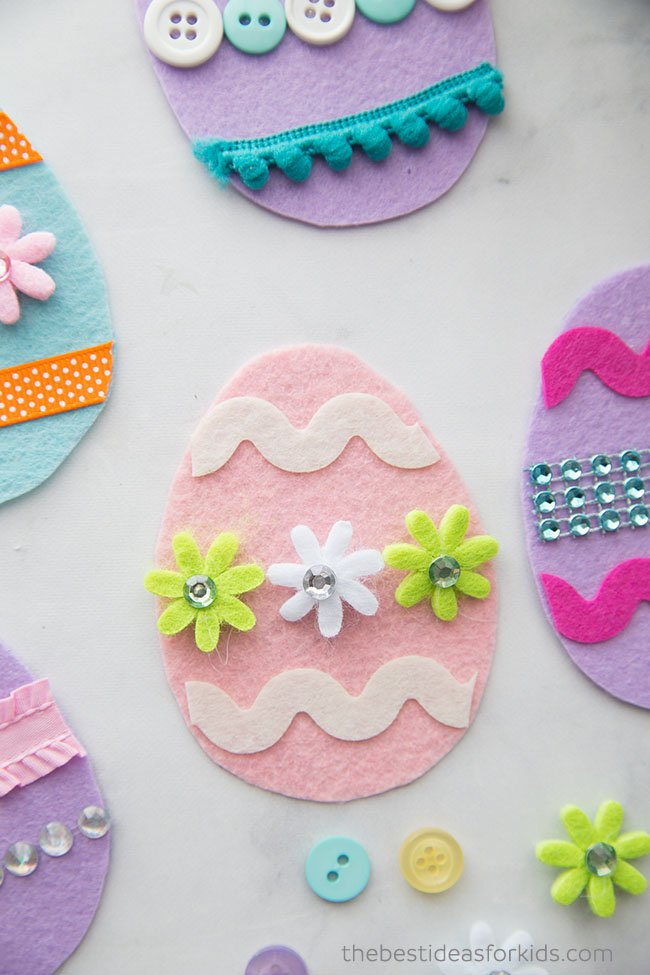 Felt Easter Eggs Craft