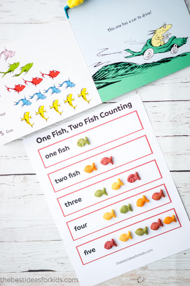 One Fish Two Fish Free Printable Activity