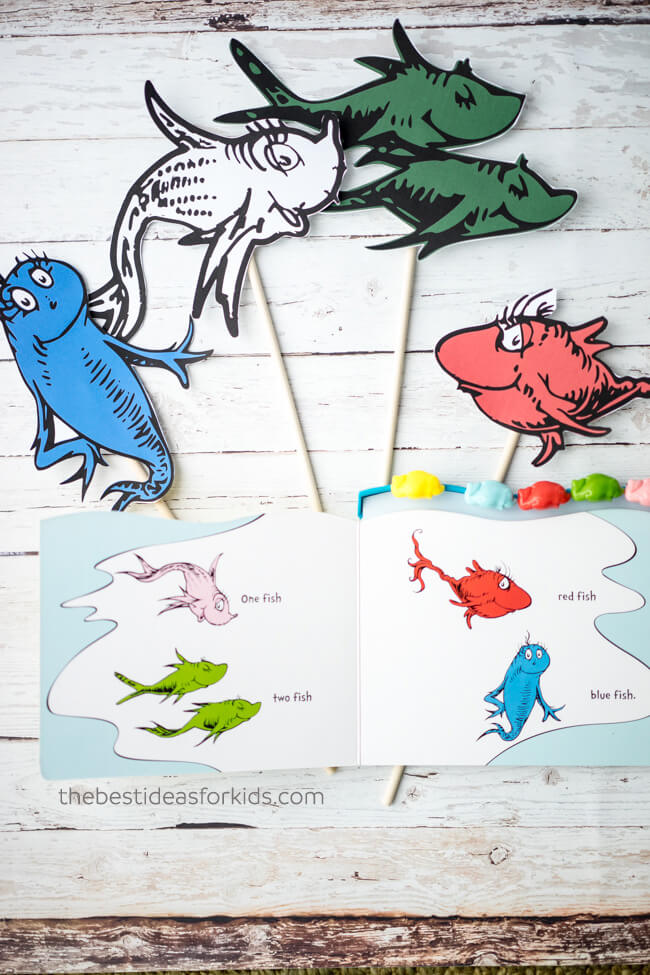 image relating to One Fish Two Fish Printable known as A single Fish 2 Fish Printable Match - The Great Designs for Little ones