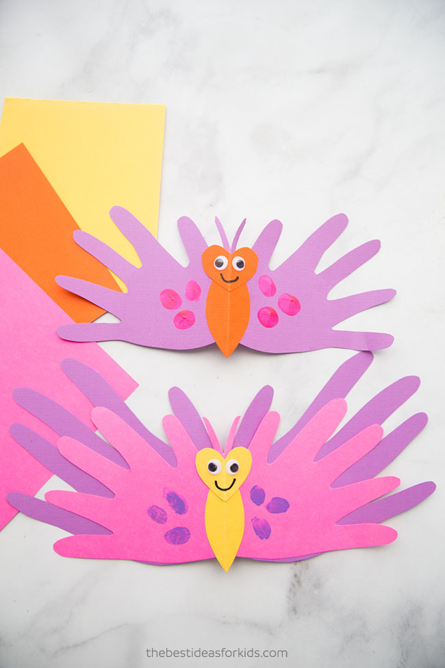 Butterfly Handprint Craft