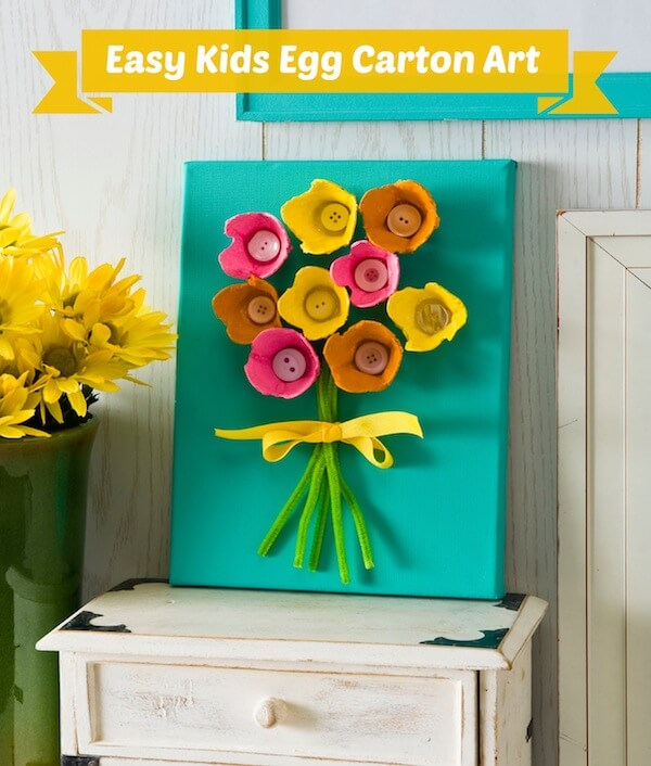 Heres Another Cute Mothers Day Craft That Uses Egg Cartons See More At Mod Podge Rocks