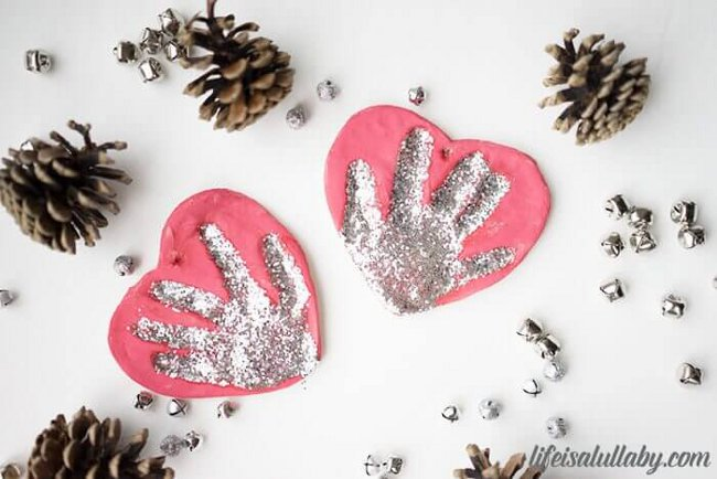 How to Make Salt Dough Handprint Ornaments