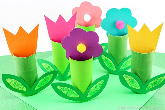 Toilet paper roll flowers craft the best ideas for kids toilet paper roll flower craft mightylinksfo