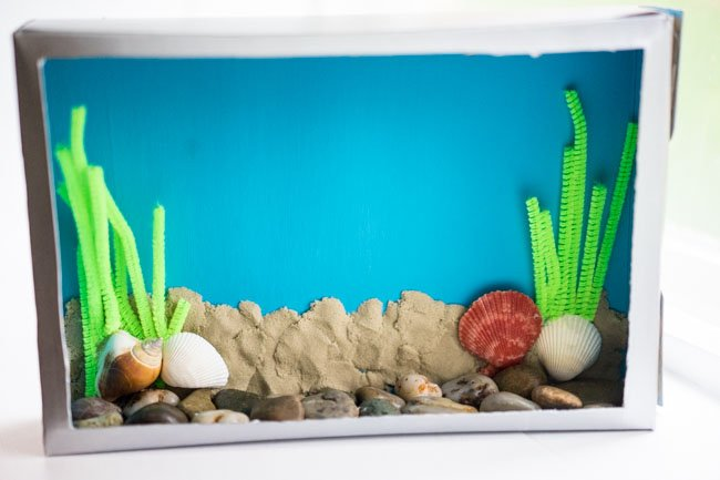 Aquarium Cereal Box Craft