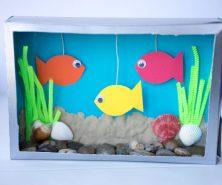 Cereal Box Aquairum Fun Kids Craft