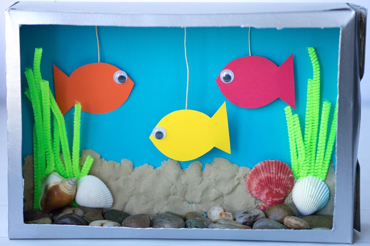 Image result for cereal box aquarium