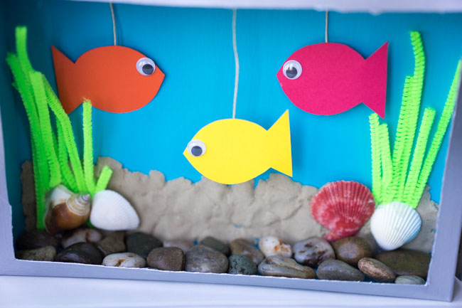 Cereal Box Aquarium Craft