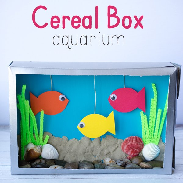 Cereal Box Aquarium