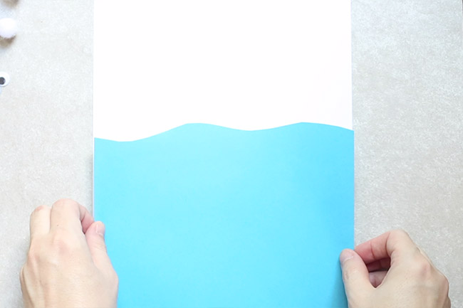 Cut out Blue Water