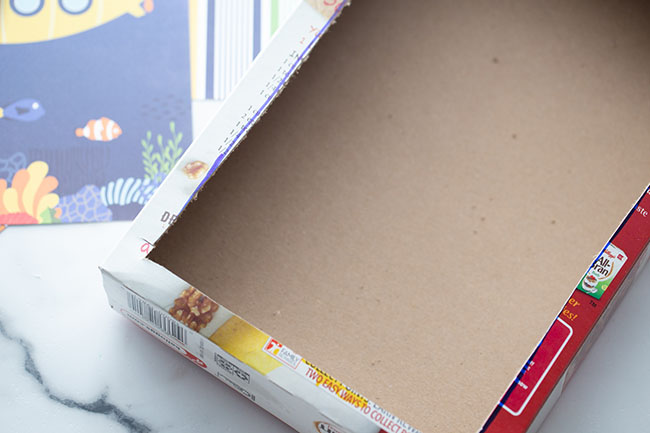 Cut out Cardboard Cereal Box