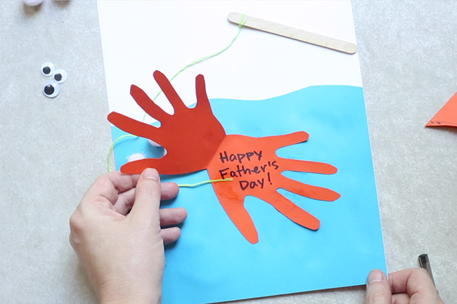 Father's Day Fish Handprint Card