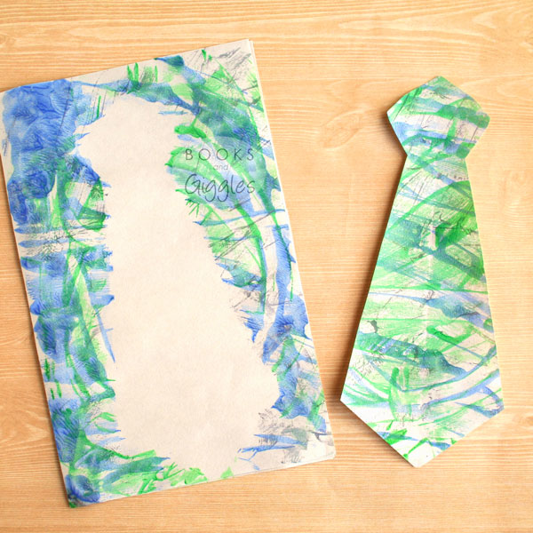 Finger Painting Tie Art