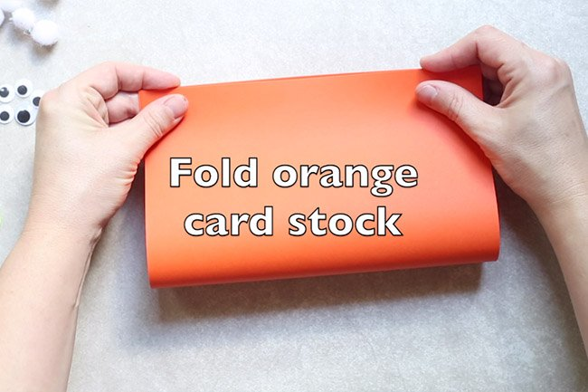 Fold Orange Cardstock