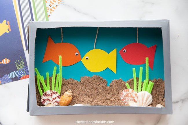 Tape Fish to Top of Aquarium
