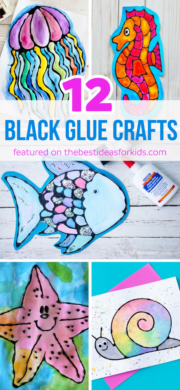 12 Under the Sea Black Glue Crafts