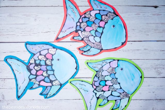Black Glue Rainbow Fish Craft