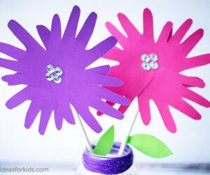 Handprint Flowers Craft for Kids