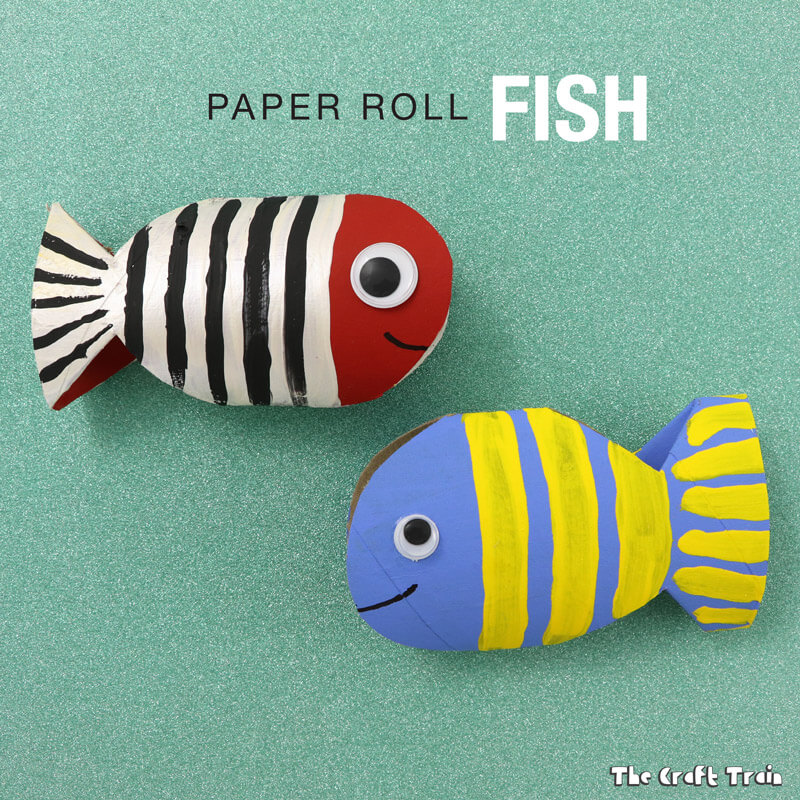 Fish Craft Ideas For Kids Part - 17: Paper Roll Fish