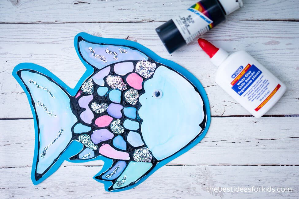 rainbow fish craft with free template the best ideas for kids
