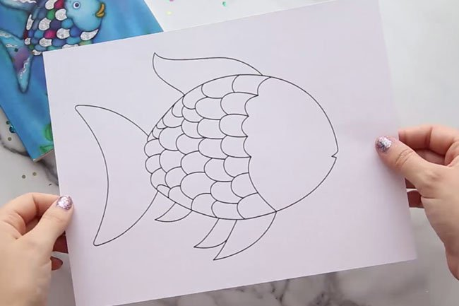 Rainbow Fish Template Print Out