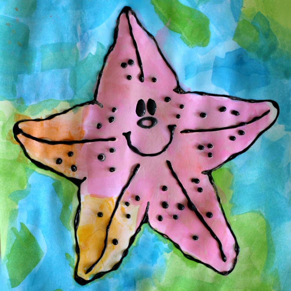 Starfish Black Glue Craft