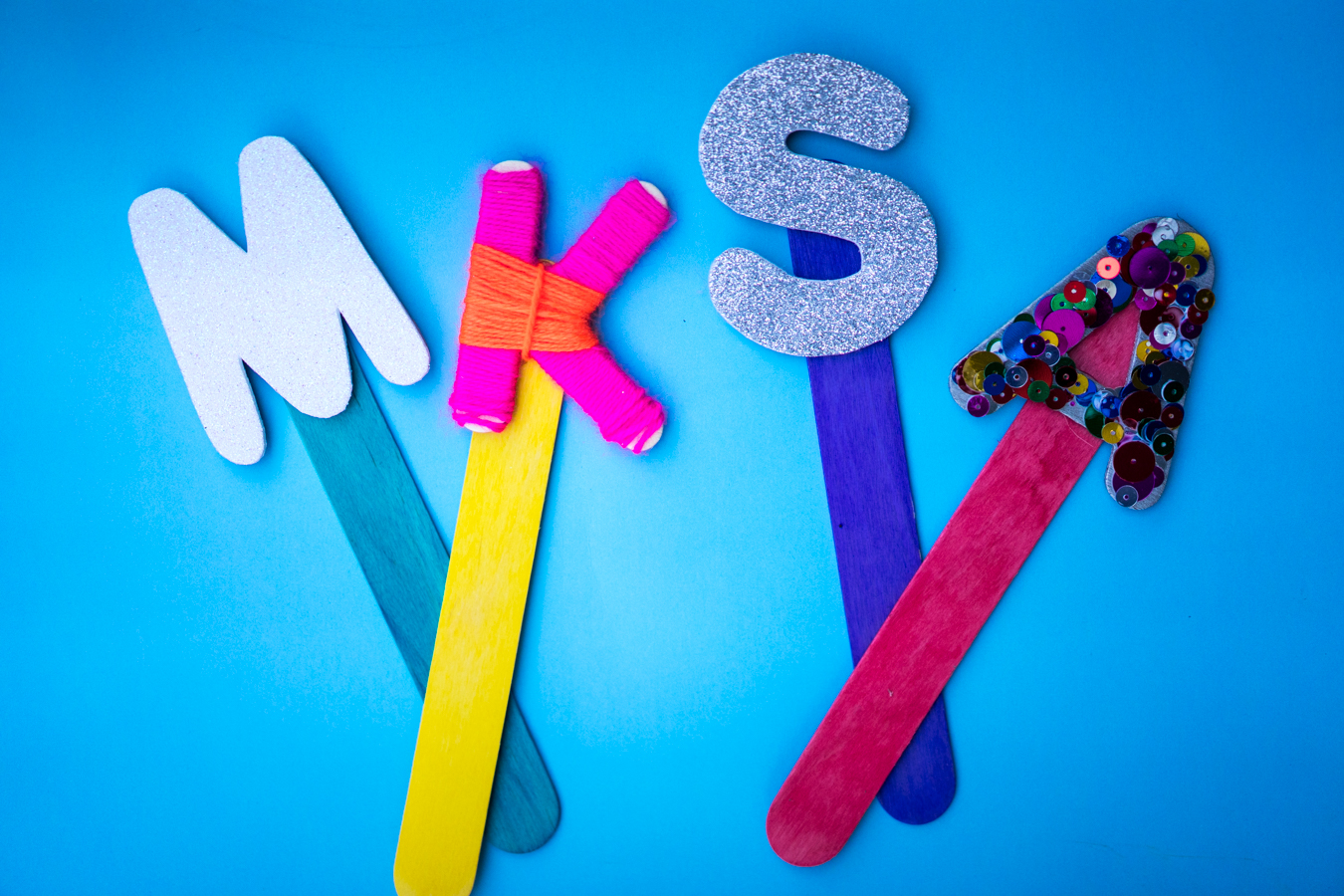 Craft Foam Letter Bookmark