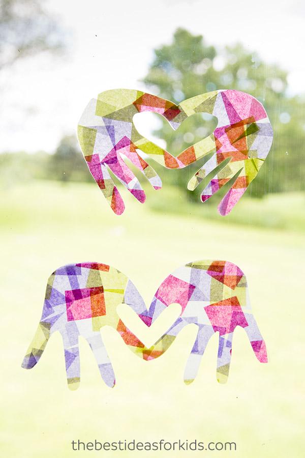 Kids Craft Handprint Suncatchers