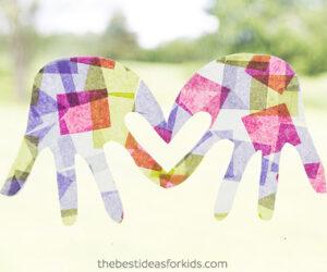 Handprint Suncatchers Summer Craft