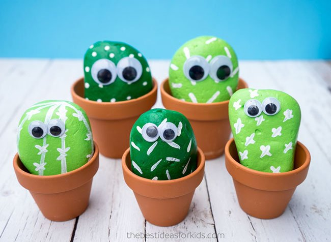 How to make DIY cactus rocks