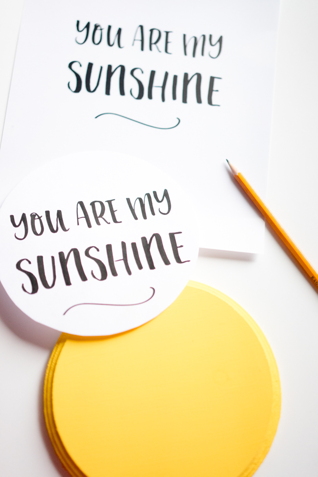 photo relating to You Are My Sunshine Printable identify By yourself Are My Sun Craft - Sunshine Handprint - The Perfect Plans