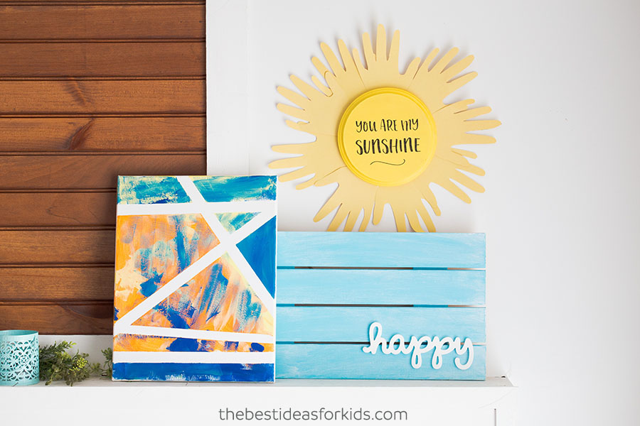 Sun handprint wall art