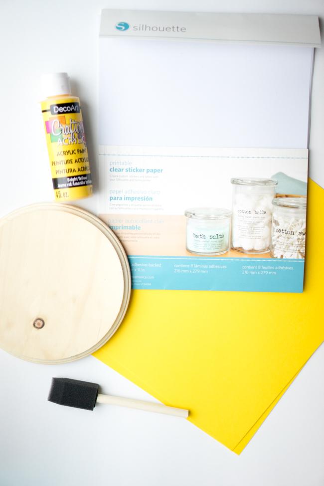 Supplies for Handprint Sun