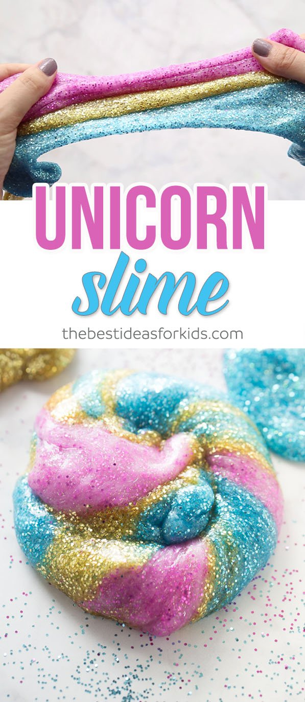 Unicorn slime easy 3 ingredient recipe unicorn slime an easy slime recipe ccuart