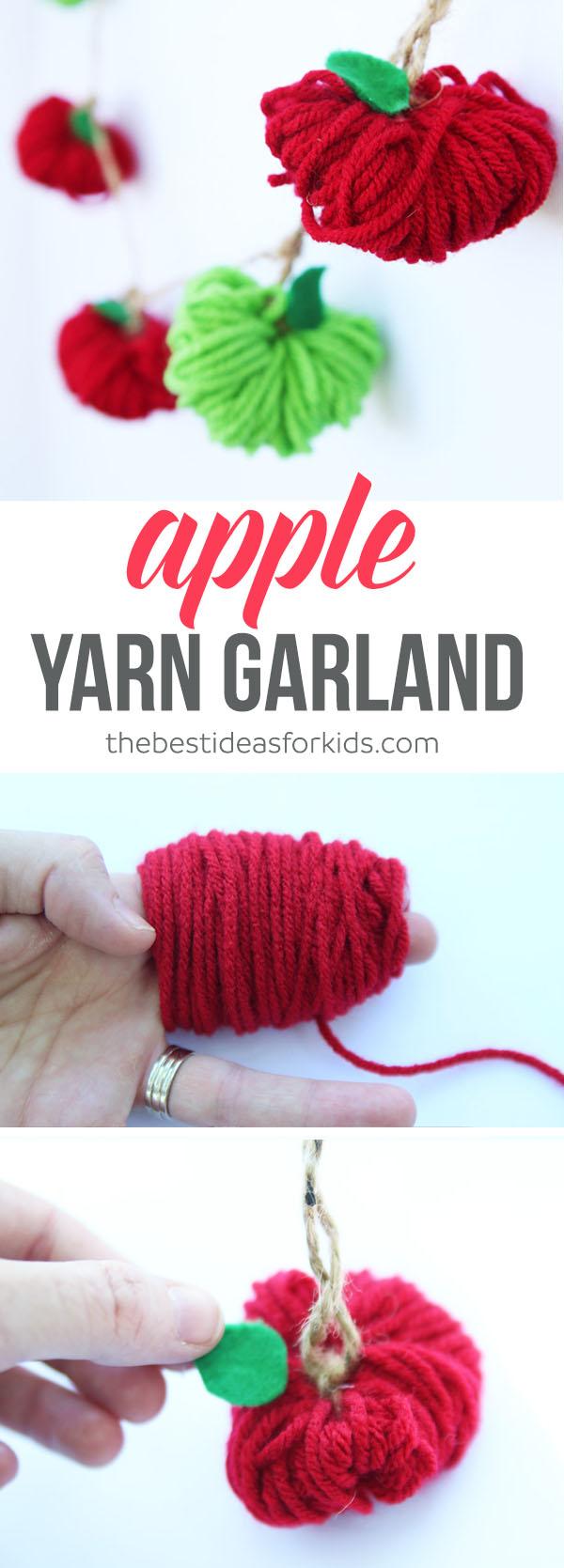 Yarn Apple Garland The Best Ideas For Kids